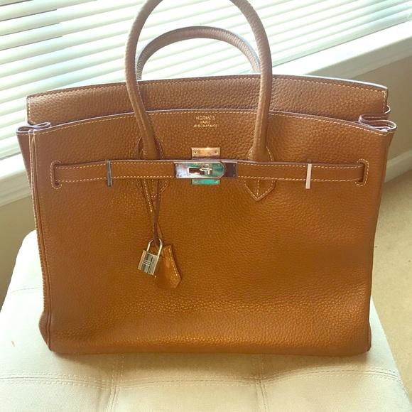 3a6dc9da3cf4 Handbags - Gorgeous Birkin inspired leather handbag!